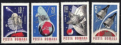 Romania 1966 Space Projects Complete Set of Stamps MNH