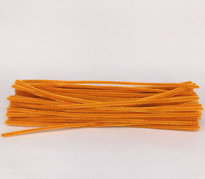 50pcs Orange Chenille Stems 30cm Craft Pipe Cleaners Craft Stem hand-woven