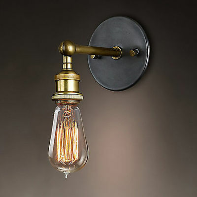 Industrial Retro Vintage Wustic Sconce Lamp Wall Light Fixture E27 Socket Decor