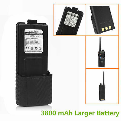 NEW! Baofeng 3800 mAh Li-ion Battery for UV 5R Plus 5RTP Ham Two-way Radio