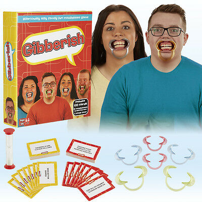 Gibberish Guess the Word Jibber Jabber Speak Out 10 Mouth Piece Card Game NEW