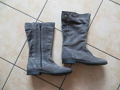 chaussures bottes grises fille taille 35 NEUVES