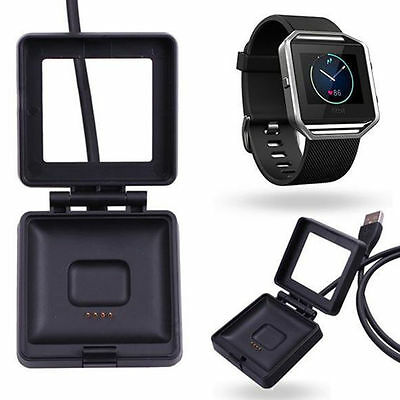 USB Charging Wire Cable Cradle Dock Charger Cord For Fitbit Blaze Smart Watch