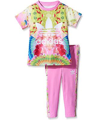 Adidas Originals Infant Baby Girls Top and Pants Outfit Tracksuit Set