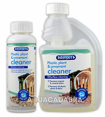 INTERPET PLASTIC PLANT & ORNAMENT 100ml 250ml CLEANER DECOR CLEAN TANK AQUARIUM