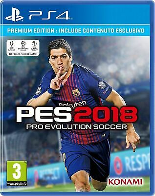 Pes 2018 Ps4 Premium Edition Uk Pro Evolution Soccer 2018 Italiano Multilingua