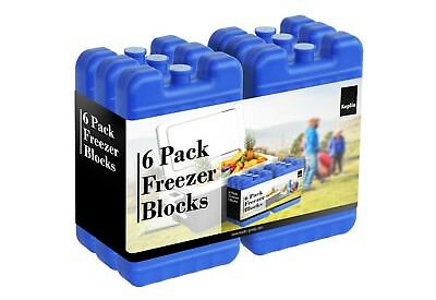 6x Blue Single Reusable Cool Ice Freezer Block Pack Travel Picnic Lunch Camping