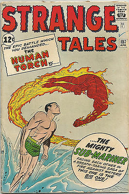 Strange Tales #107. Marvel Apr 1963. Human Torch Vs Sub-Mariner. VG+