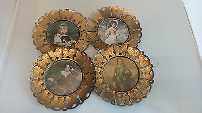 Vintage Metal Picture Frames. Made In England. LOT OF 4