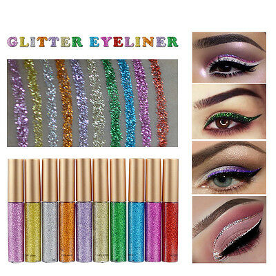 Waterproof Diamond Metallic Eyeshadow Maquillage Glitter Liquide Eyeliner