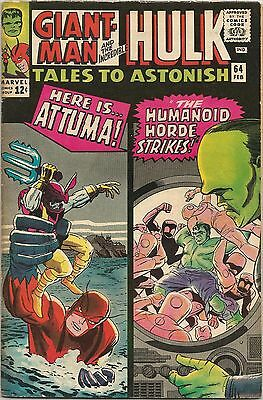 Tales To Astonish #64. Marvel Feb 1965. Ant-Man/Giant-Man. Wasp. Hulk. FN-