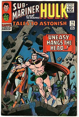 Tales To Astonish #76. Marvel Feb 1966. Sub-Mariner. Hulk. FN Pence