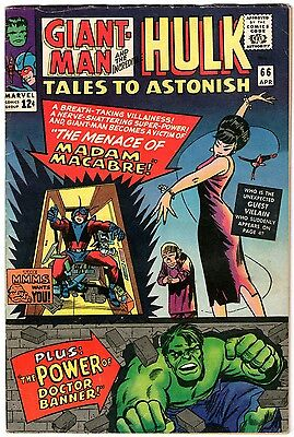 Tales To Astonish #66. Marvel Apr 1965. Ant-Man/Giant-Man. Wasp. Hulk. FN-