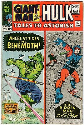 Tales To Astonish #67. Marvel May 1965. Ant-Man/Giant-Man. Wasp. Hulk. VG