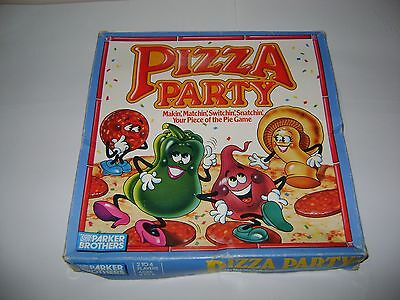 Vintage PIZZA PARTY Children's Board Game PARKER BROTHERS Ages 4-8 1987 80s