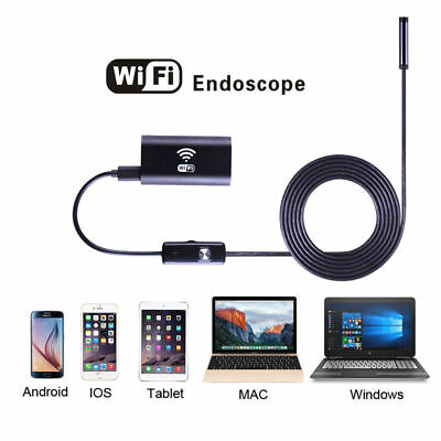 Rigid 8 LED WIFI Endoscope Borescope Inspection HD Camera Android iPhone 1M 8MM