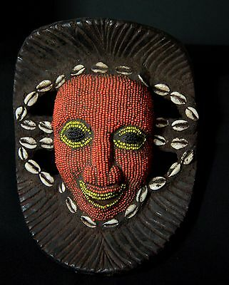 African tribal mask,beaded - Bamun-Cameroon