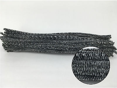 Black White striped Chenille Stems 30cm Craft Pipe Cleaner Craft Stem hand-woven