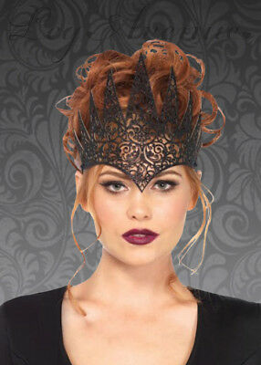 Womens Gothic Wicked Queen Black Crown