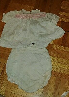 1960s VINTAGE Carters 6mo Girls Top and Diaper Cover bottom EUC