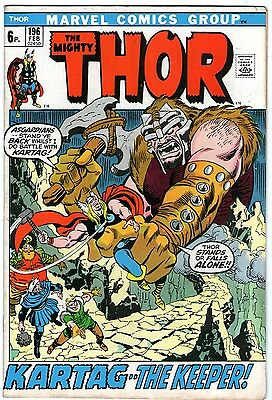 Thor #196. Vol1. Marvel Feb 1972. Buscema, Giacoia, Conway. FN
