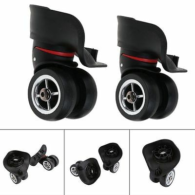 2X Luggage 360° Swivel Spinner Replacement Suitcase Caster Wheels Repair OD 49mm