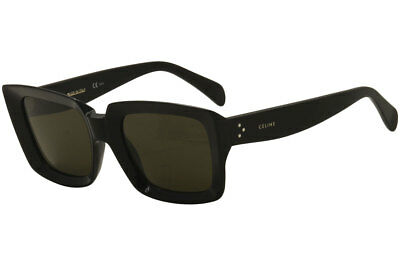 Celine Women's CL41449S CL/41449/S 807/70 Black Square Sunglasses 55mm