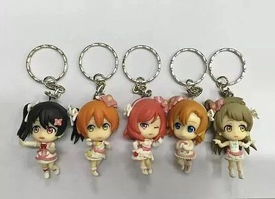love live lovelive! 5pcs keychain PVC figure collection doll anime figures new