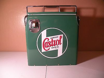 Wakefield Castrol Oil Vintage Retro Style Repro Metal Ice Cooler Green
