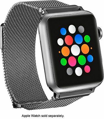 OEM Platinum PT-AWB42SMB Silver Stainless Steel Mesh Band for Apple Watch 42mm