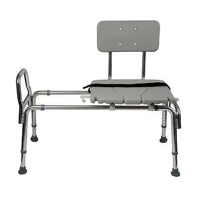 Duro-Med Heavy-Duty Sliding Transfer Bench Shower Chair with Cut-out Seat...