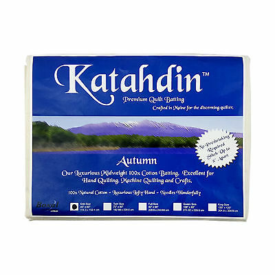NEW Bosal 3508-01 | Katahdin Cotton Premium Batting | 114.3x152.4cm | FREE POST
