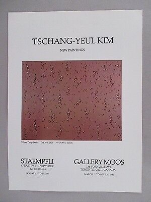 Tschang-Yeul Kim Art Gallery Exhibit PRINT AD - 1981