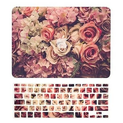 "Lavish Floral Matte Hard Case + Keyboard Cover for Macbook Pro13"" with Retina"