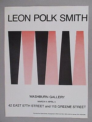 Leon Polk Smith Art Gallery Exhibit PRINT AD - 1981