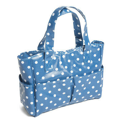 Hobby Gift MRB/188 | Denim Spot PVC Craft Bag | 12.5x39x35cm