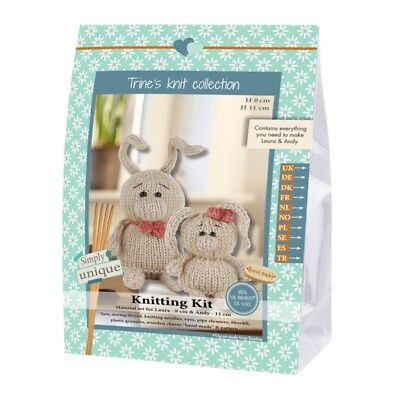 NEW | Go Handmade Knitting Kit | Lukas & Friends Rabbit Laura & Andy |FREE POST