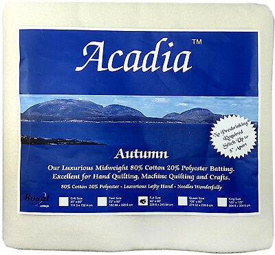NEW Bosal 3509-03 | Acadia Cotton Polyester Batting | 228.6x243.8cm | FREE POST