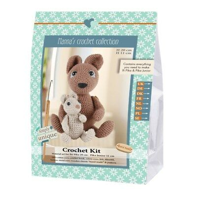 NEW | Go Handmade Crochet Kit | Helmut & Friends Ili Pika & Pika Jr |FREE POST