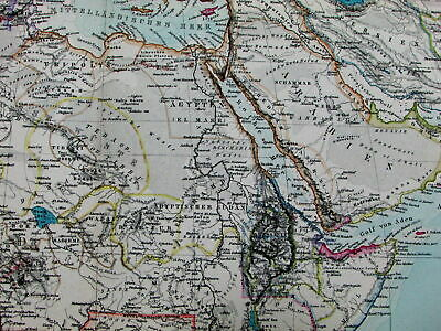 Afrika Africa continent Colonial possessions European 1891 Stieler old color map