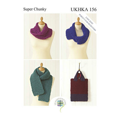 UKHKA Snoods, Scarf and Bag Pattern | Perfect for Beginners | UKHKA/156