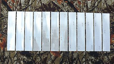 12 of 10 inch long 3M White Conspicuity Reflective Tape DOT-C2