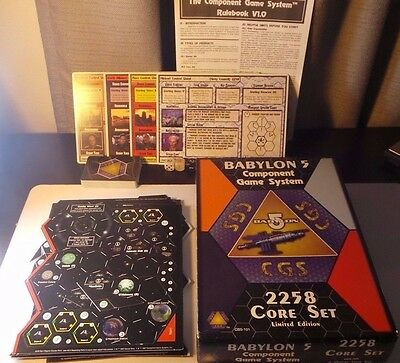 Babylon 5 Limited Edition Component Games CGS 2258 Core Set RARE - NEVER USED!!!