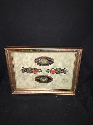 "1920's 15 1/2"" Framed Ornate Cast Iron Pediments"