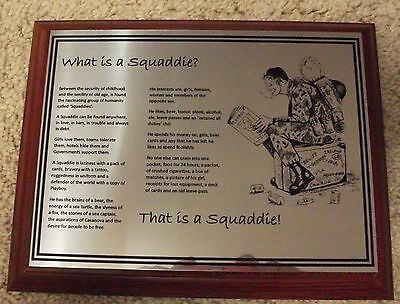 What Is A Squaddie Plaque - British Army Humour Cold War Era Themed Raoc Rct Rpc