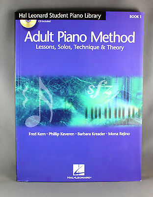 Hal Leonard Adult Piano Method Book 1 - Lessons,Solos,Technique & Theory + 2CDs