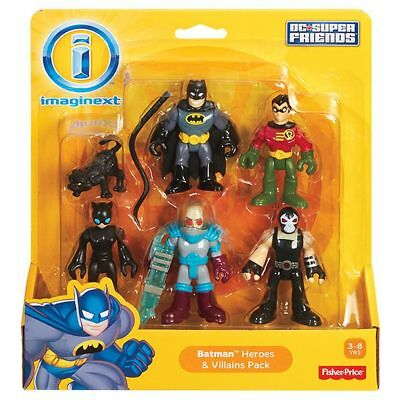 NEW Imaginext DC Super Friends Batman Heroes & Villains Pack