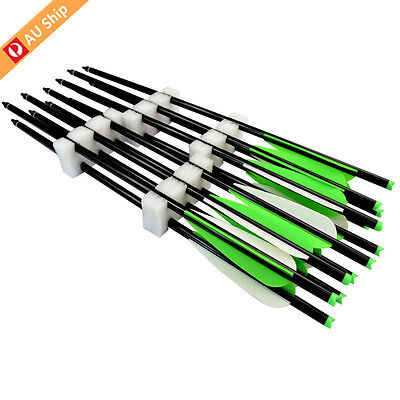 12X Crossbow Bolts Arrows Hunting Archery Screw Points TPU Vanes Aluminum Shafts