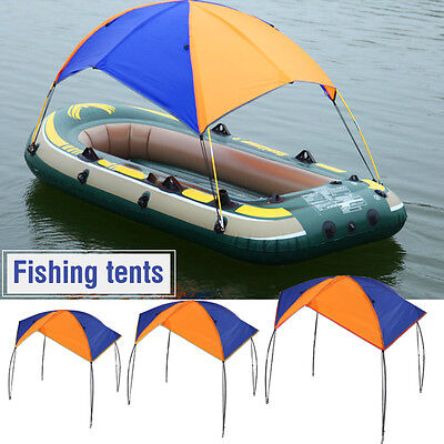 New Inflatable Boat Rubber Sun Shelter Foldable Fishing Tent Sunscreen 4 Person