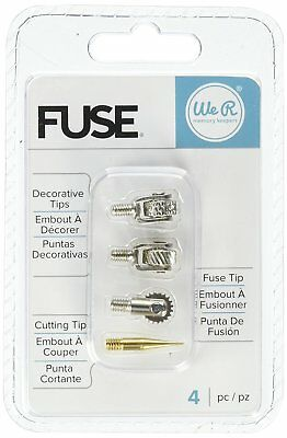 We R Memory Keepers 660870 Fuse Tool Tips Decorative Cutting & Fusing (4 Pack),